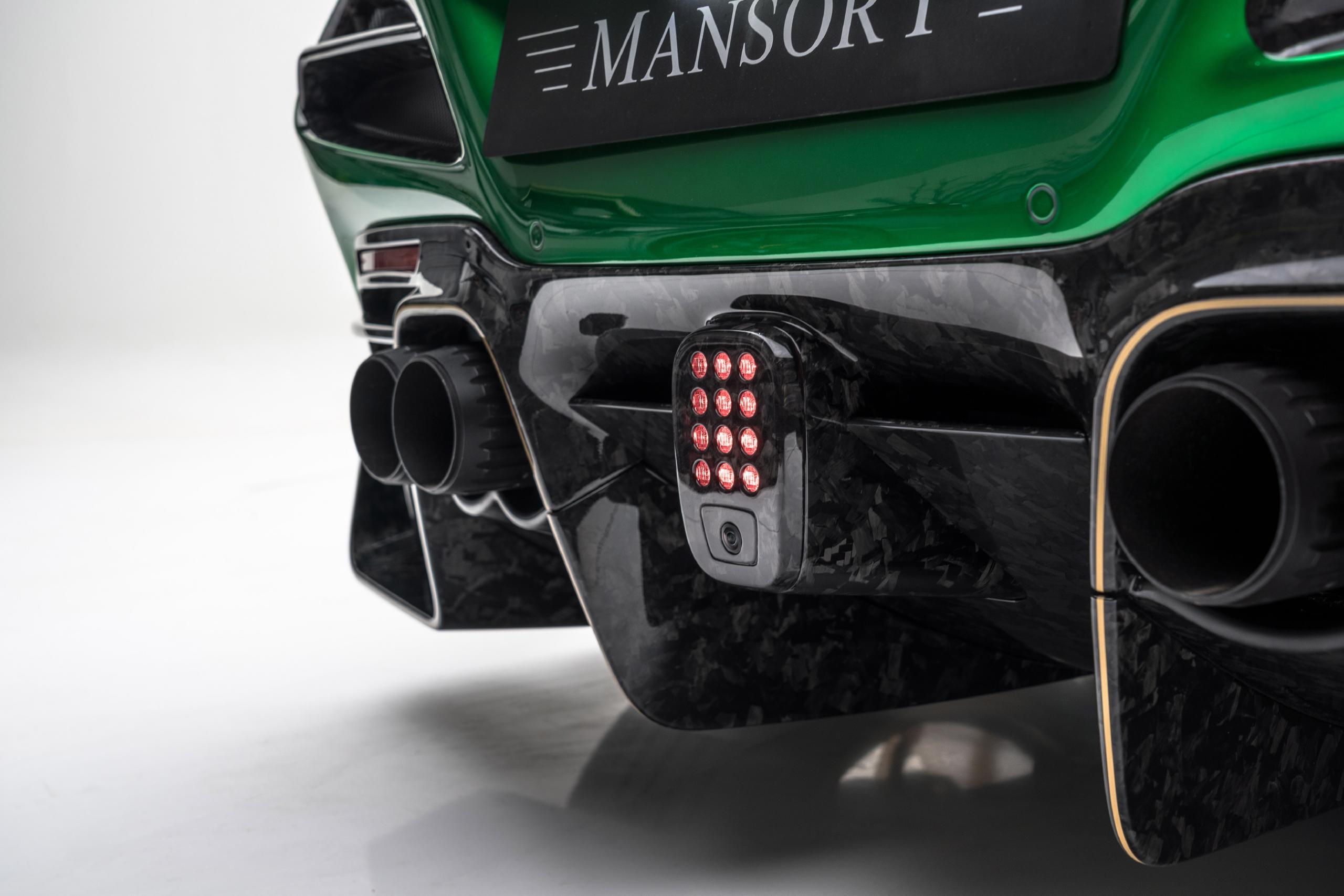 mansory f8xx ferrari f8 body kit carbon fiber rear diffuser sport exhaust system 2020 2021