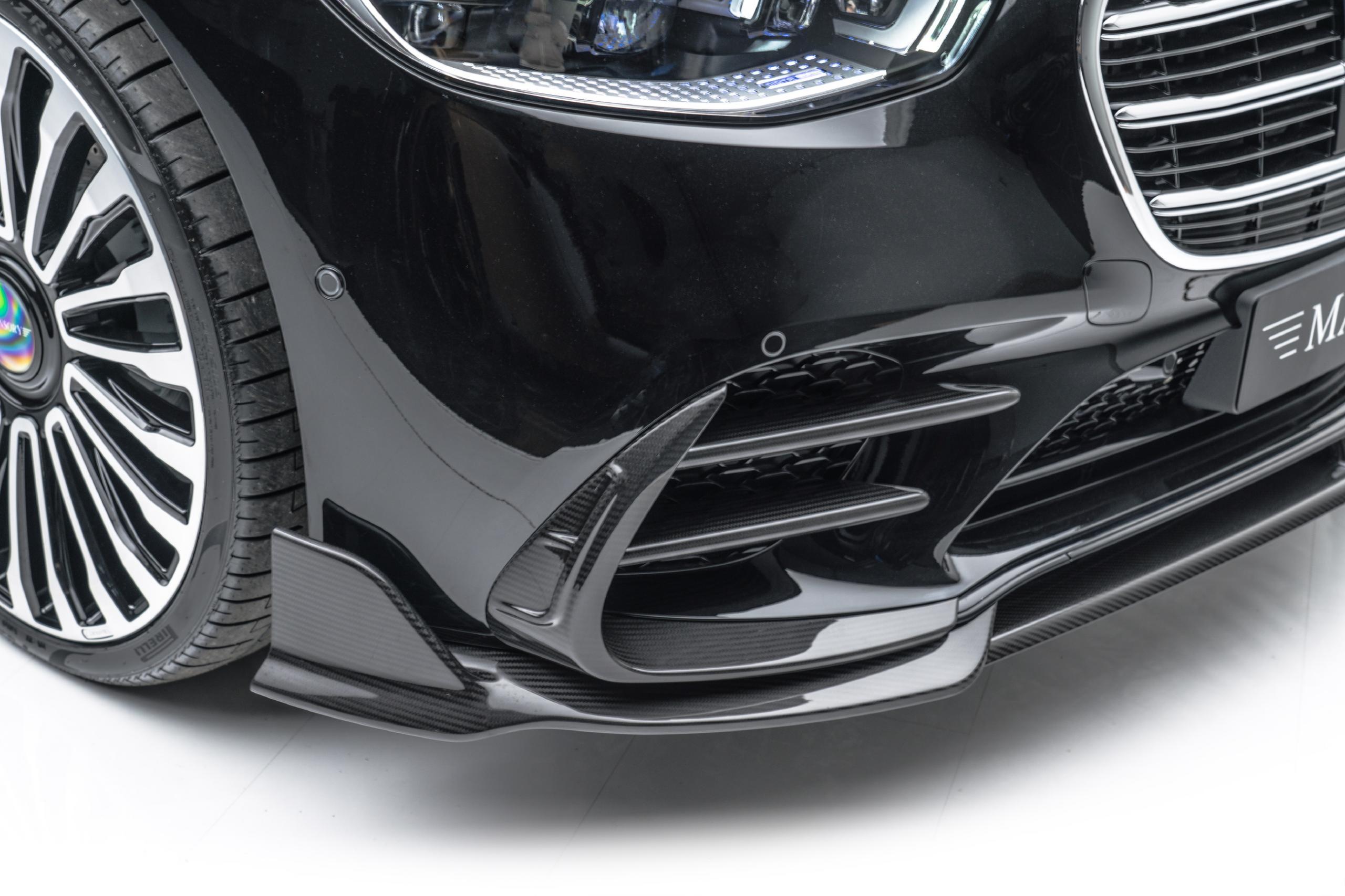 mansory w223 mercedes s class body kit carbon fiber front bumper air intake 2021 2022 2023