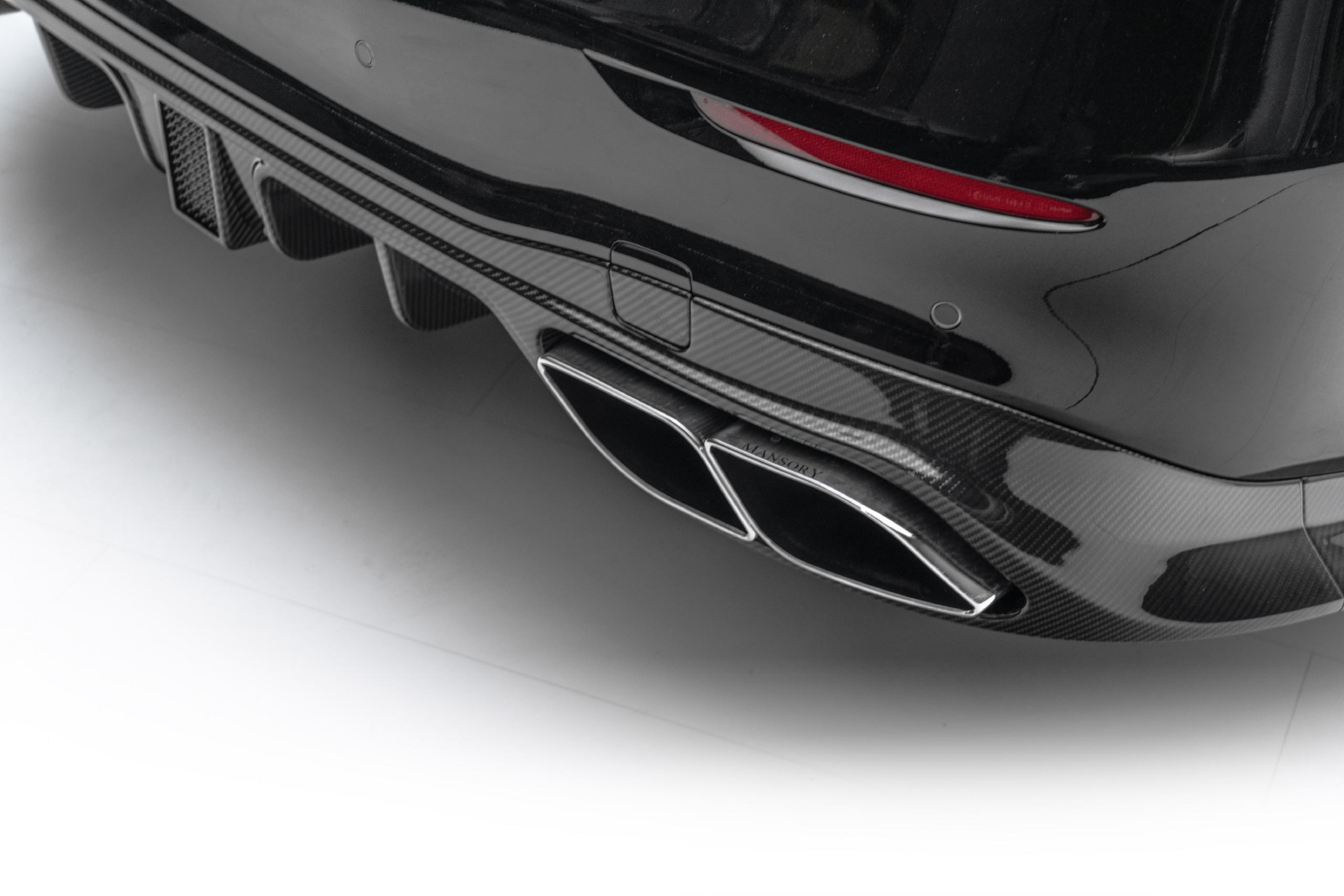 mansory w223 mercedes s class body kit carbon fiber rear diffuser exhaust blind tips set 2021 2022 2023