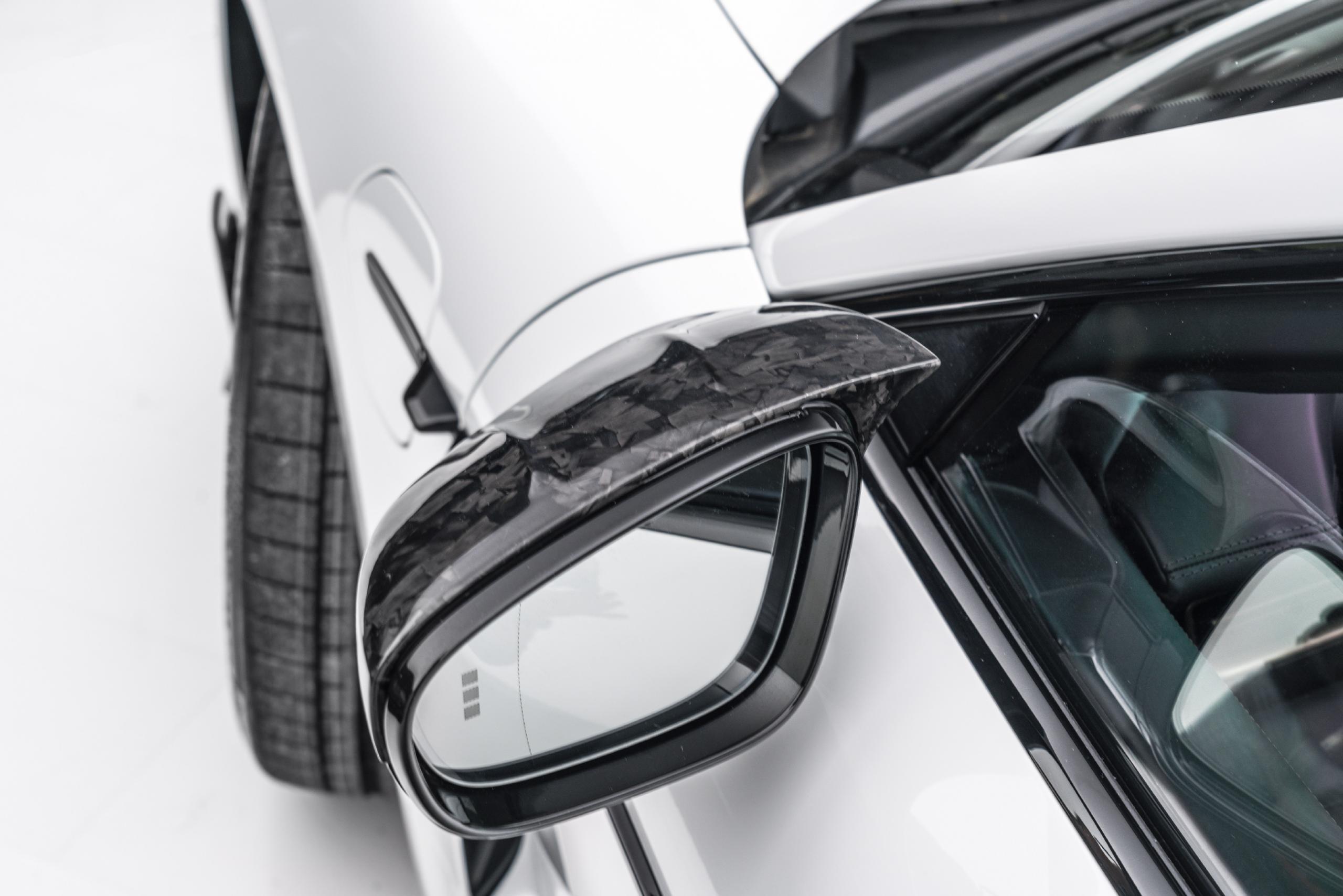 mansory porsche taycan carbon fiber body kit mirror cover rear 2020 2021