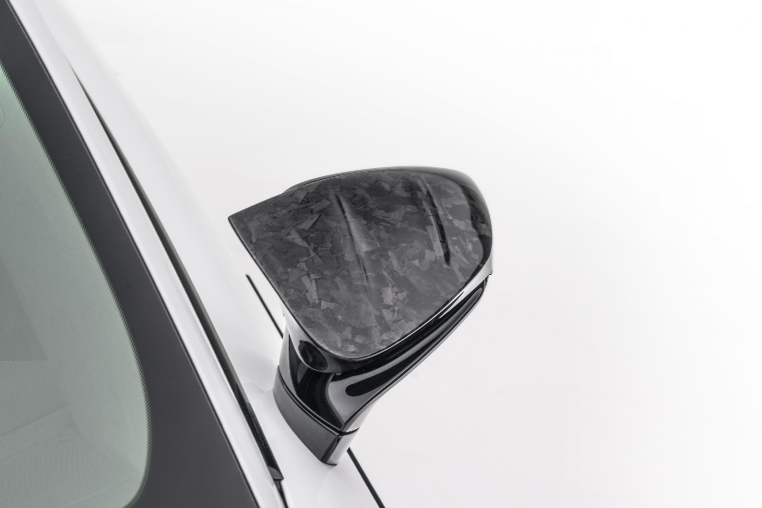mansory porsche taycan carbon fiber body kit mirror cover top 2020 2021