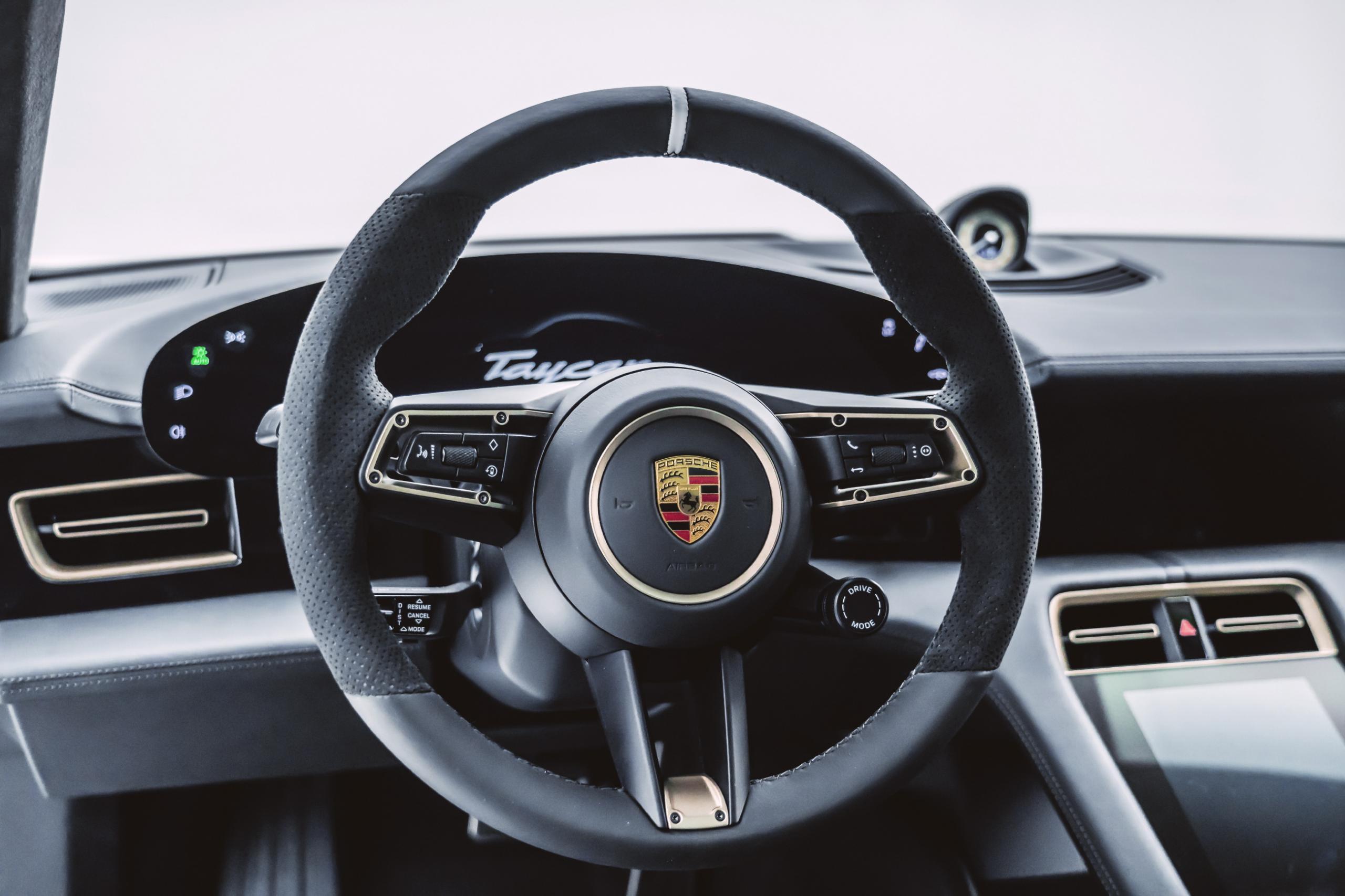 mansory porsche taycan carbon fiber body kit steering wheel interior 2020 2021