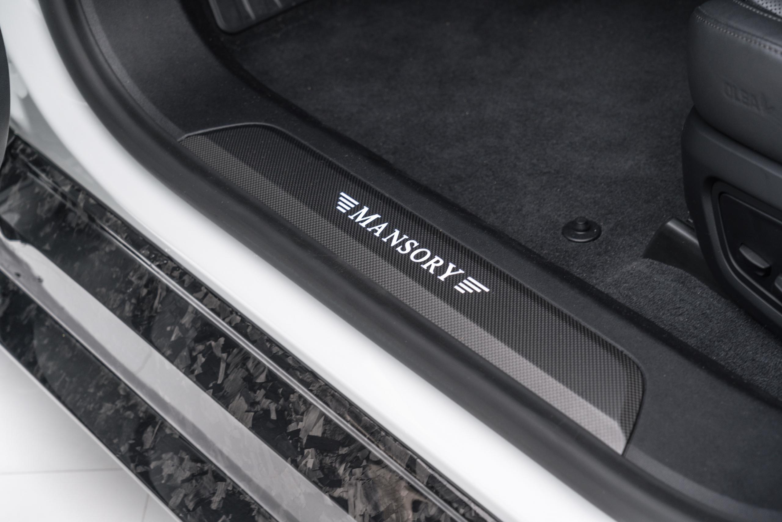 mansory porsche taycan carbon fiber body kit door sill 2020 2021
